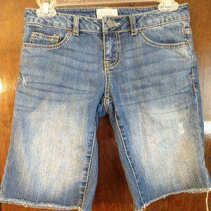 Cut Off Bermuda Jean Shorts